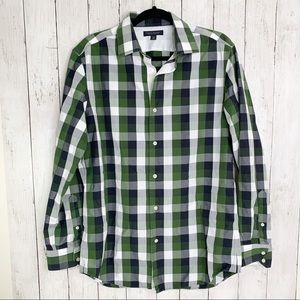 {Banana Republic} Non-Iron Slim Fit Plaid Shirt